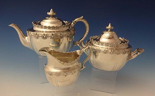 English King by Tiffany Co Sterling Silver Tea Set Sugar Creamer 3pc 0173