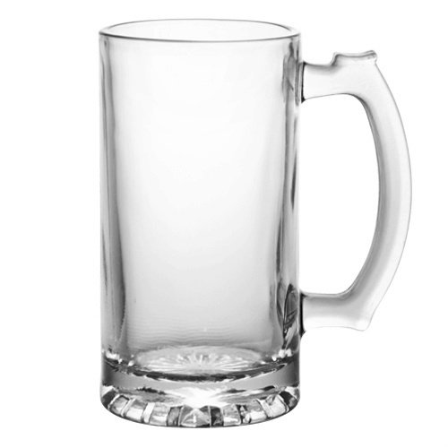 Heavy Duty Tall Glass Beverage Mug Pack of 2
