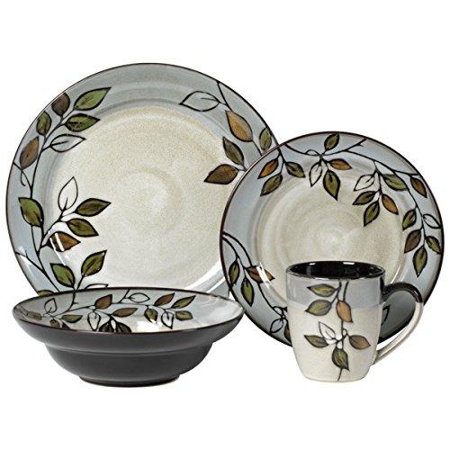 Pfaltzgraff 5136396 Rustic Leaves Dinnerware Set Assorted