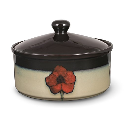Pfaltzgraff Painted Poppies Round Covered Casserole Dish