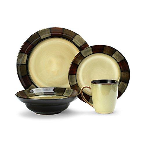 Pfaltzgraff Taos 16-Piece Stoneware Dinnerware Set Service for 4