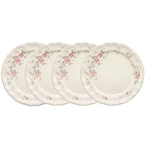 Pfaltzgraff Tea Rose Dinner Plate 10-14-Inch Set of 4