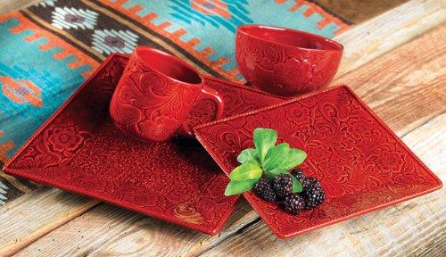 Savannah Red Dinnerware Set - 16 pcs