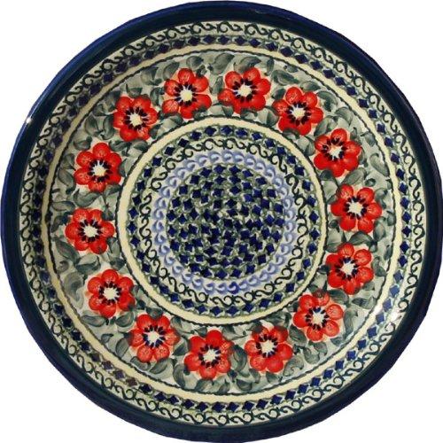 Polish Pottery Dinner Plate 1075 Inch From Zaklady Ceramiczne Boleslawiec 1014-134 Art Signature Unikat Pattern Diameter 1075