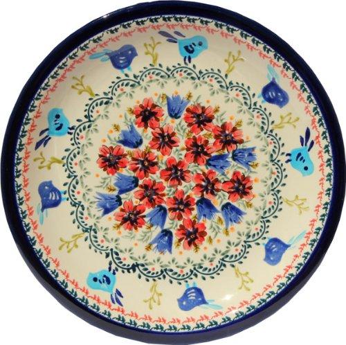 Polish Pottery Dinner Plate 1075 Inch From Zaklady Ceramiczne Boleslawiec 1014-214 Art Unikat Signature Pattern Diameter 1075