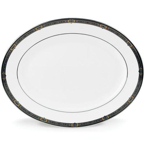 Lenox Vintage Jewel Platinum Banded Bone China 13 Oval Platter