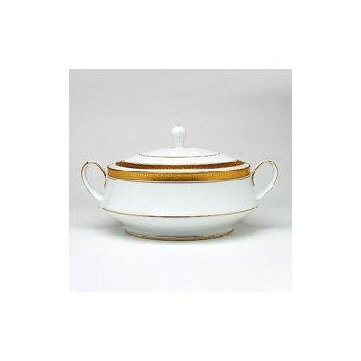 Noritake Crestwood Gold Covered Vegetable Bowl