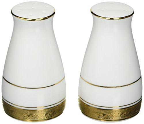 Noritake Crestwood Gold Salt Pepper Shakers
