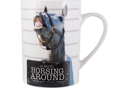 Creative Tops Mugshots Always Horsing Around Tall Fine China Mug by Creative Tops