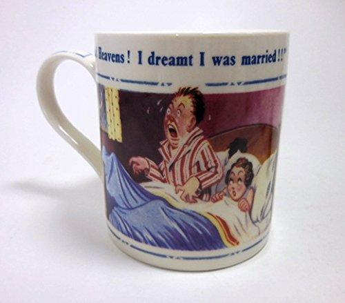 Donald McGill British Saucy Seaside Postcard Artwork Fine China Mug