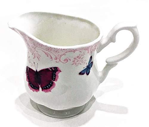 Roy Kirkham Fine English Bone China Butterfly Milk Cream Jug  35 x 4  Collectible ~ Dated 2012