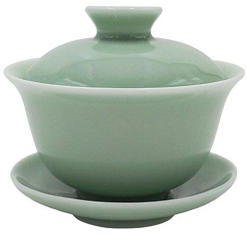 Teagas China Yixing Classic Celadon TeacupChinese Tea CupGaiwan Tea Cup for Green Tea150ML