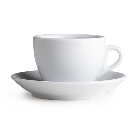 Palermo Style Cappuccino Espresso Latte Cups White By Nuova Point Made in Italy Cappuccino