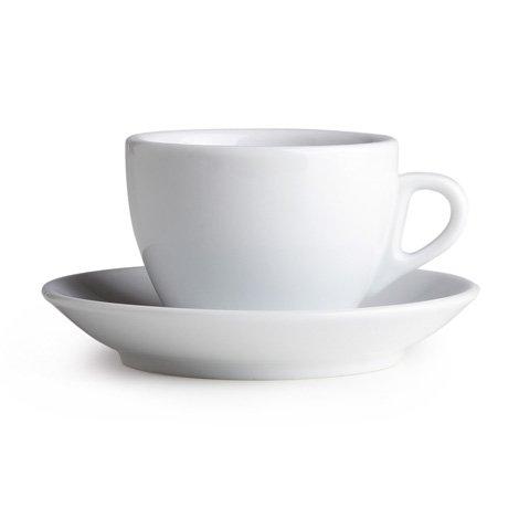 Palermo Style Cappuccino Espresso Latte Cups White By Nuova Point Made in Italy Cappuccino