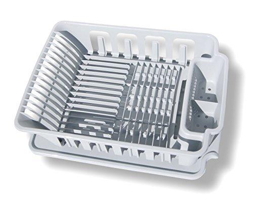Sterilite 2-piece Large Sink Set Dish Rack Drainer Gray