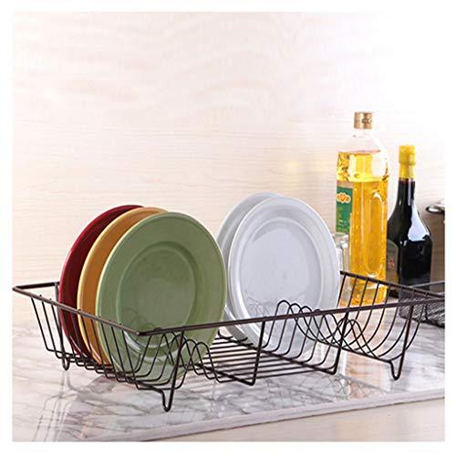 Single Layer Dish Rack Drain Rack Iron Art Rustproof Compact Dish Drainer Sink Holder For Kitchen Countertop-48X32X95cm