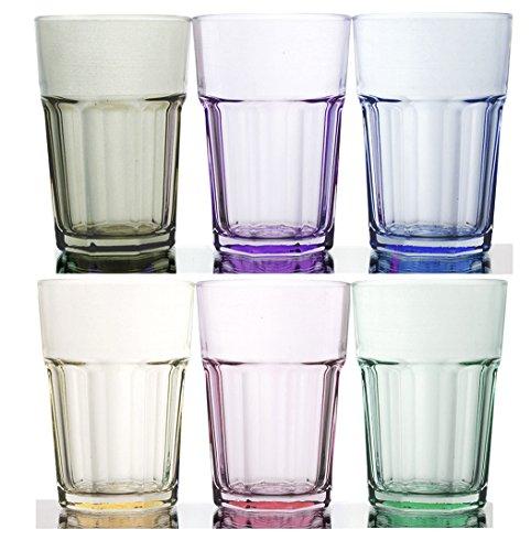 Rainbow Illusion Tinted Glass Tumbler 6-Piece Set 1175 Ounce - Pastel Edition