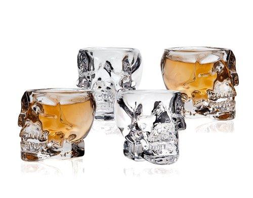 Klikel Skull Shot Glass Set of 4 Transparent