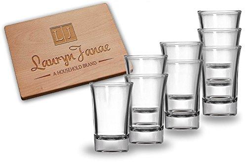 Lauryn Janae Premium 15oz Heavy Base Clear Shot Glasses Cocktail Appetizer Parait Trifle or Dessert Taste Samplers Set of 8