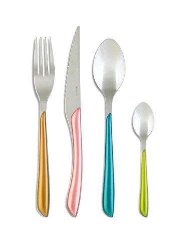 Amefa Eclat Metallics Stainless Steel 24 Piece Cutlery Set Flatware
