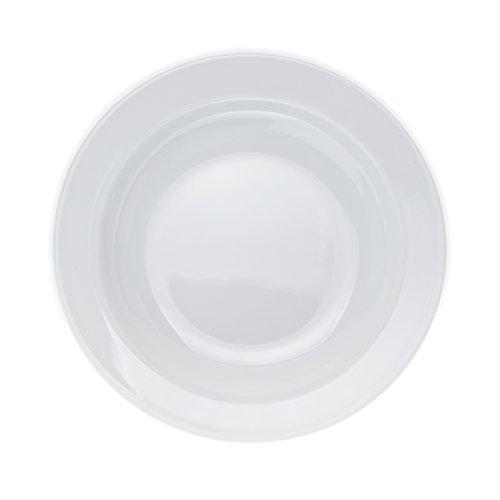 6-Piece PastaSaladSoup PLATES White Porcelain Restaurant&Hotel Quality size 9