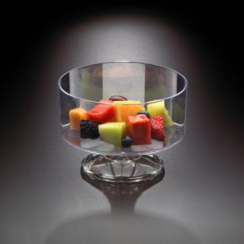 EMI Yoshi Koyal Pedestal Fruit Bowl Clear Set of 6