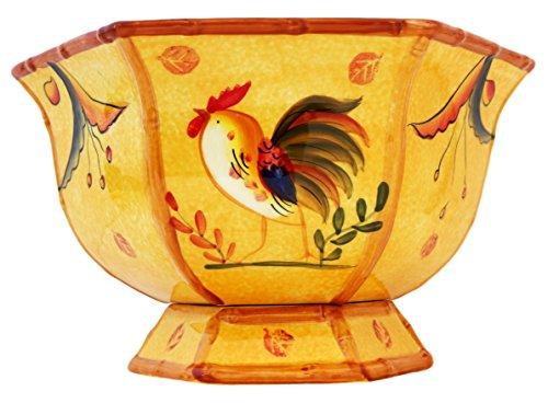 Pedestal Fruit Bowl Decorative Bowl Rooster