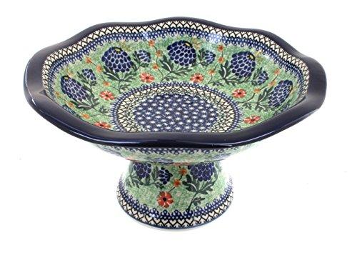 Polish Pottery Sofia Pedestal Fruit Bowl