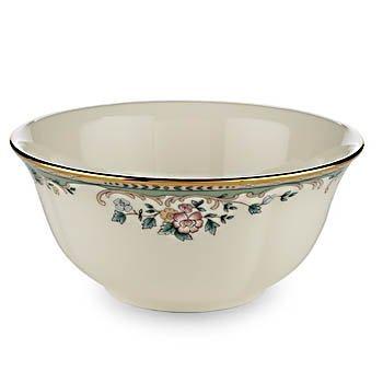 Lenox Spring Vista Gold Banded Ivory China Fruit Bowl
