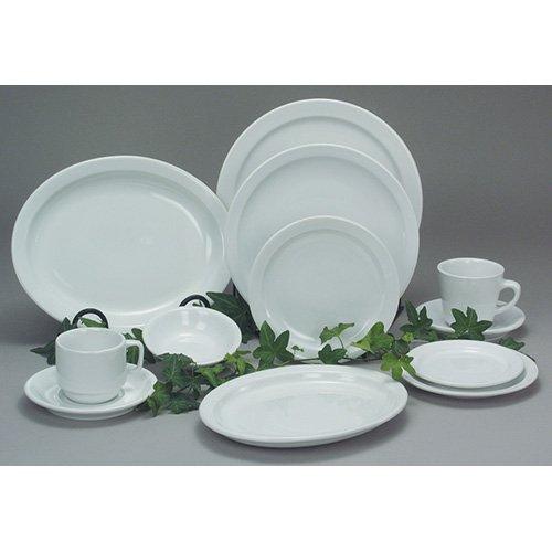 Value Series BWNAR-11 White Economy China Fruit Bowl - 4-78Diam