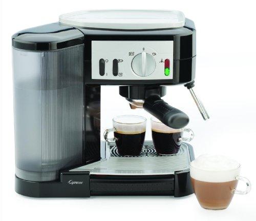 Capresso 1050-Watt Pump Espresso and Cappuccino Machine BlackSilver