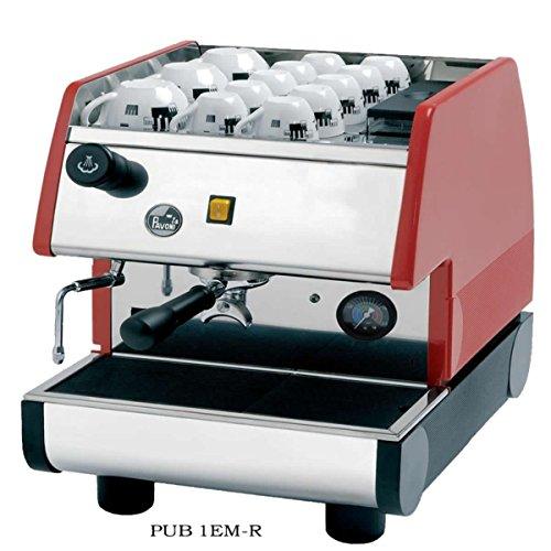 La Pavoni PUB 1EM-R  - 1 Group Commercial Espresso Cappuccino machine  pour-in Red