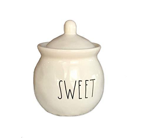 Rae Dunn Ceramic Sugar Pot Bowl Large Letter Sweet