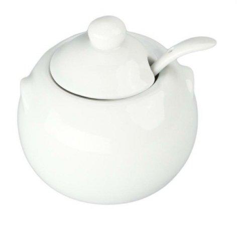Bia Cordon Bleu Inc 904028 8 Oz White Porcelain Sugar Bowl With Cover