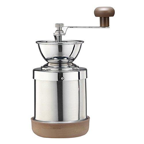 Cafe de Tiamo Stainless Steel Hand Coffee Grinder Skerton Ceramic Burr HG6063