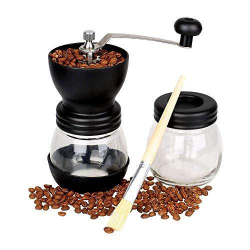 Manual Coffee Grinder Premium Adjustable Ceramic Burr Grinder Grinder for Coffee Bean or SpicesDelicate Household Travel or Camping Grinder Material_type  Porcelain