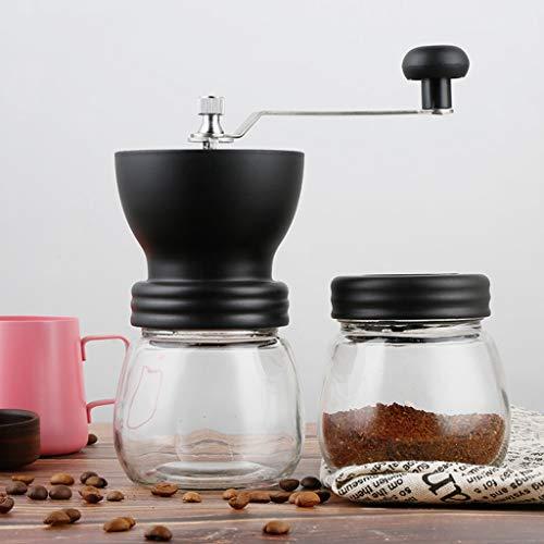 Manual Coffee Grinder Premium Adjustable Coarseness Ceramic Burr Grinder Portable Hand Coffee Grinder for Home Office Travel or Camping