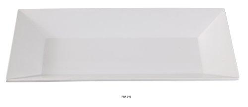 Yanco Rome Collection White Melamine Rectangular Dinner Plate 10 X 6 BOX of 24