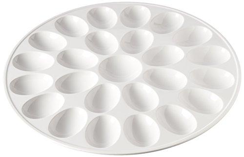 Zak Designs 12-inch White Melamine Egg Tray