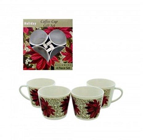 Holidays Coffee Cup Gift Set Melamine 4 Piece Set