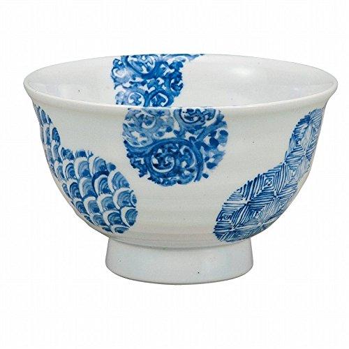 Jpanese traditional ceramic Kutani ware Donburi bowl Mubyo healthy With paper box ktn-K5-0464