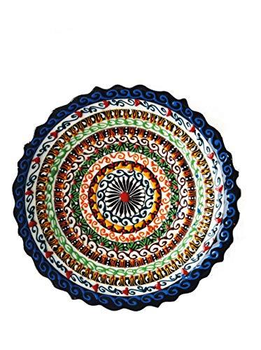 Ayennur Turkish Decorative Plate Handmade Ceramic Ornament for Home&Office Wall Decor