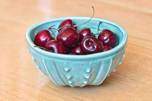 Aqua Blue porcelain bowl - sea urchin ceramic bowls handmade bowls blue noodle bowl rice bowl ice cream bowl cereal bowl blue pottery