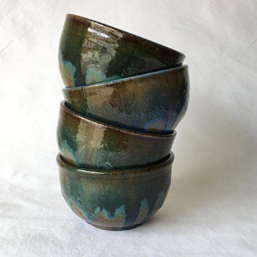 One Turquoise Ceramic Bowl Handmade Ceramic Bowl CBSP17TQZ4