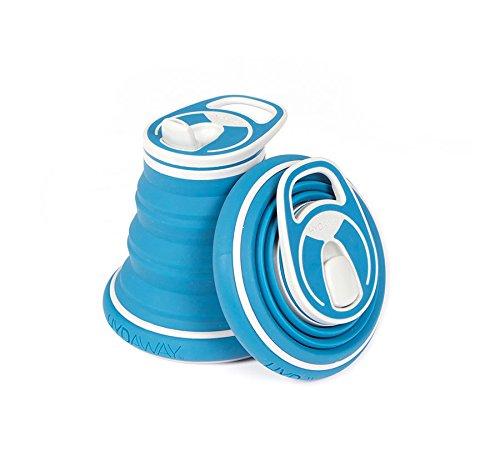 HYDAWAY Collapsible KIDS Water Bottle - 12 oz Bluesteel