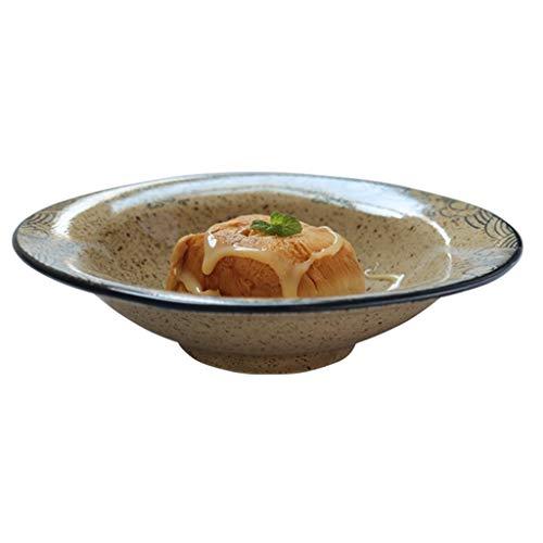 Ceramic Bowls Grain Bowls Japanese Ramen Bowls Home Breakfast Bowls Retro Salad Bowls Ice Cream Dessert Bowls Creative Fruit Bowls Color  Brown Size  21215cm
