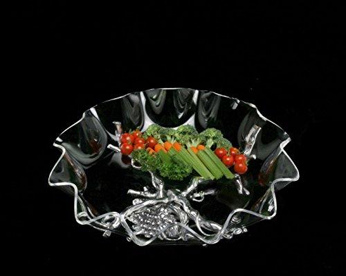 Arthur Court Designs Aluminum Grape Stand with 16 Acrylic Serving Bowl
