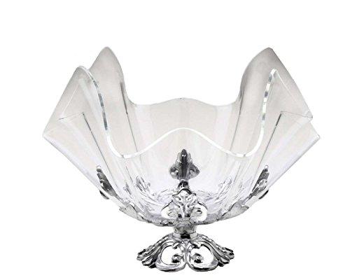 Arthur Court Fleur-De-Lis Stand with 14-Inch Acrylic Bowl