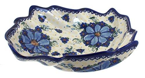 Polish Pottery Daisy Surprise Large Leaf Bowl
