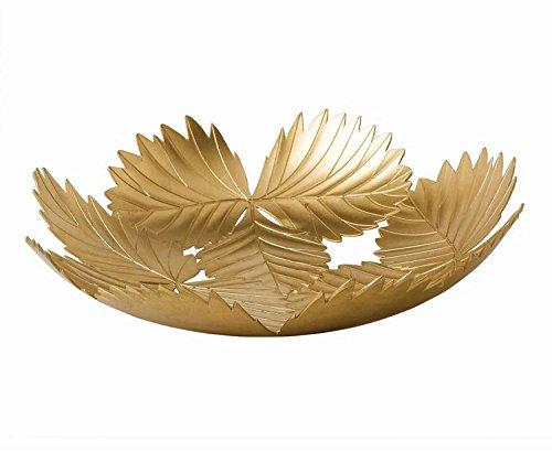 Wedgwood Wild Strawberry Metal Leaf Bowl 138-Inch Gold